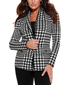 Black Label Houndstooth Sweater Blazer