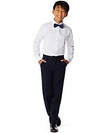 Big Boys Poplin 2 Piece Shirt and Bow Tie Set
