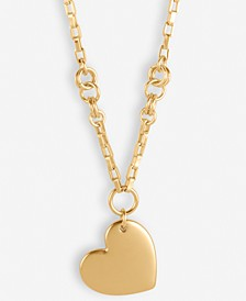 "Gold-Tone Heart Long Pendant Necklace, 29-1/2"" + 2"" extender"