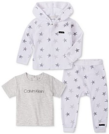 Baby Boys 3-Pc. Jacket, T-Shirt & Jogger Pants Set