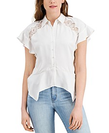 Lidia Lace-Detail Shirt