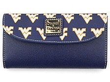 West Virginia Mountaineers Saffiano Continental Clutch