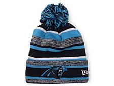 Carolina Panthers Striped Marled Knit