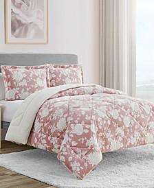 Hadley Floral 3-Pc Queen Comforter Set