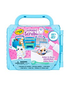 Scribble Scrubbie Pets, Vet Toy Playset with Toy Pets, Kids At Home Activities, Gift for Kids