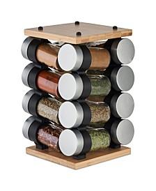 Blyth Classic Bamboo 16 Jar Carousel Spice Rack