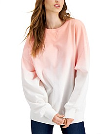 Juniors' Ombré Oversized Sweatshirt