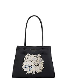 Everything Puffy Cat Large Tote