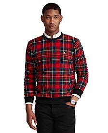 Men's Plaid Cotton-Blend-Fleece Sweatshirt