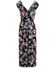 INC Floral-Print Jumpsuit, Created for Macy's
