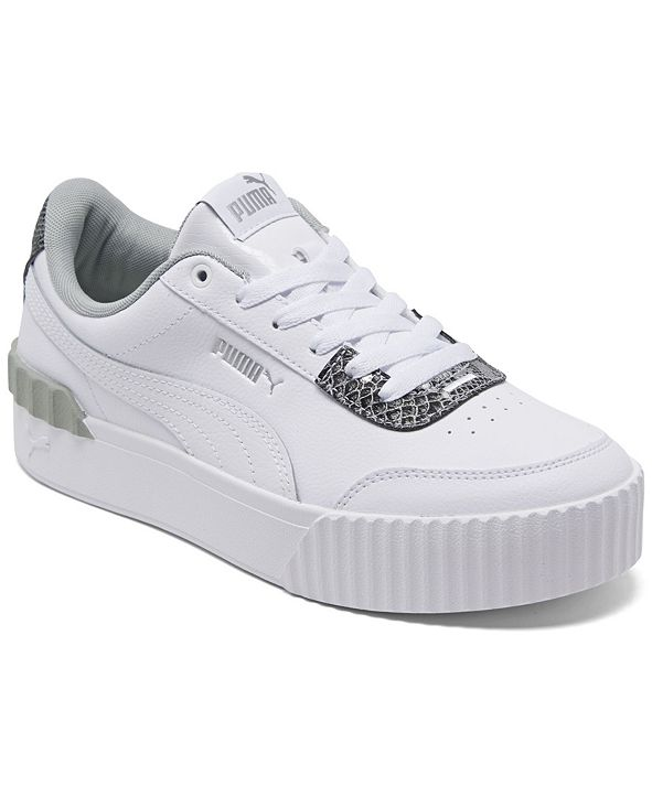 Puma Women's Carina Lift Snake Platform Casual Sneakers from Finish Line
