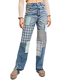 Steinbeck Patched Straight-Leg Jeans