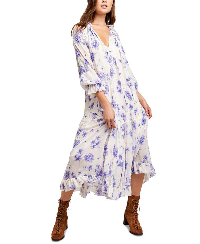 Free People - Feeling Groovy Belted Maxi Dress