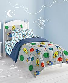 Space Rocket Twin Comforter Set