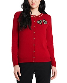 Maia Heart-Embellished Cardigan, Created for Macy's