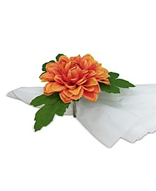Exotic Escape Dahlia Napkin Rings, Set of 4, Created for Macy's