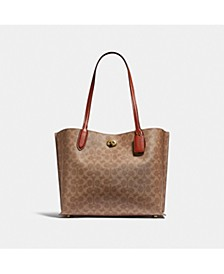Coated Canvas Signature Willow Tote