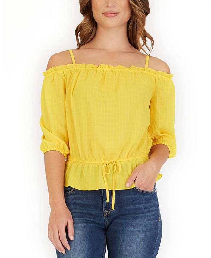 BCX - Ruffled Off-The-Shoulder Top