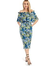 INC Off-The-Shoulder Ruffled Dress, Created for Macy's