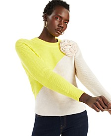 INC Colorblocked Appliqué Sweater, Created for Macy's