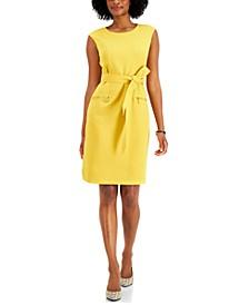 Belted Zip-Pocket Dress