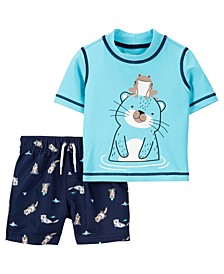 Baby Boys Otter Rash Guard Set