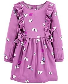Toddler Girls Floral Butterfly Viscose Dress