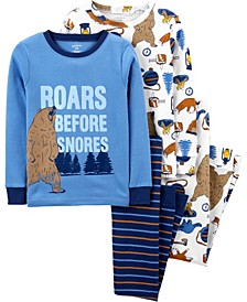 Big Boys 4-Piece 100% Snug Fit Cotton PJs
