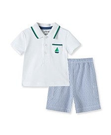 Baby Boys Sailboat Short Set
