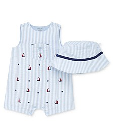 Baby Boys Sailboat Sunsuit and Hat