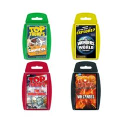 Top Trumps Explore The World 4 Pack Card Game Bundle