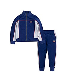 Toddler Boys Colorblock 2 Piece Tracksuit Set
