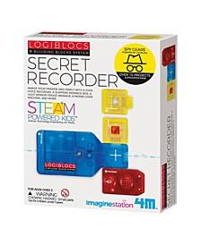 Logiblocs E-Building Blocks System Secret Recorder Science Kit - Steam