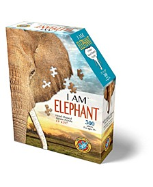 Madd Capp Games - I Am Elephant - 300 Pieces - Animal Shaped Jigsaw Puzzle