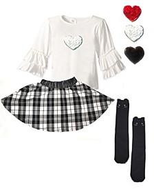 Big Girls Ruffle Top and Skirt Set
