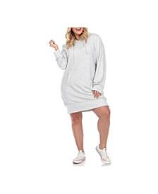 Women's Plus Size Hoodie Sweatshirt Dress