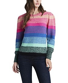 Women's Long Sleeve Color Block Sweater