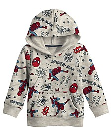 Little Boys Spiderman All Over Print Hoodie