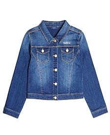 Big Girls Classic Stretch Denim Jacket