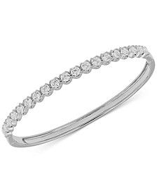 Diamond Bangle Bracelet (3 ct. t.w.) in 14k White Gold