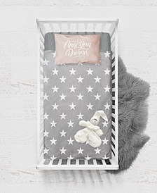 Baby Boys and Girls Viscose from Bamboo Digital Print Fitted Crib Sheet