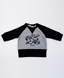 Baby Boys and Girls Organic Cotton Tattoo Sweatshirt