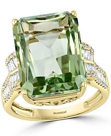 EFFY® Green Quartz (11-1/2 ct. t.w.) & Diamond (1/2 ct. t.w.) Ring in 14k Gold