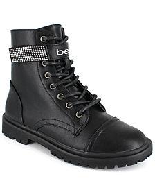 bebe Women's Dayani Strap Logo Boots