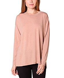 Juniors' Slit-Hem Tunic Top