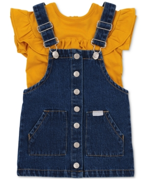 Seven For All Mankind Sets SEVEN FOR ALL MANKIND BABY GIRLS 2-PIECE JUMPER SET