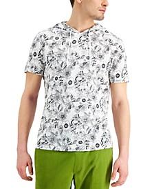 Men's Regular-Fit Floral-Print Hoodie, Created for Macy's