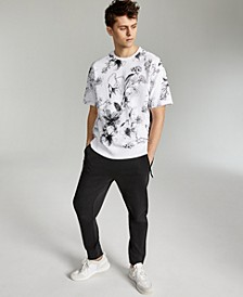 Men's Oversized-Fit Floral-Print French Terry Sweatshirt, Created for Macy's