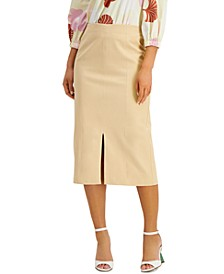 Slit-Front Midi Skirt, Created for Macy's