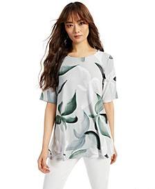 Printed Scoop-Neck Swing Top, Created for Macy's